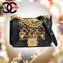 CHANEL Leather Party Style Handbags