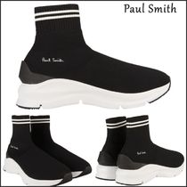 Paul Smith Stripes Unisex Street Style Bi-color Sneakers