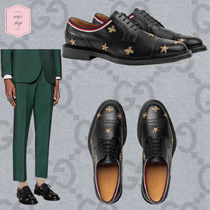 GUCCI Star Straight Tip Blended Fabrics Other Animal Patterns