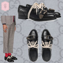 GUCCI Wing Tip Blended Fabrics Studded Plain Other Animal Patterns