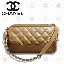 CHANEL Chain Plain Leather Party Style Shoulder Bags