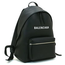 BALENCIAGA EVERYDAY TOTE Unisex Plain Leather Elegant Style Backpacks