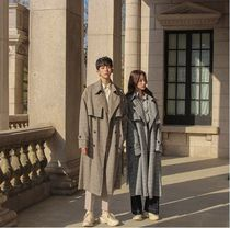 ASCLO Other Check Patterns Unisex Long Oversized Coats