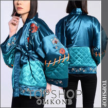 TOPSHOP Short Flower Patterns Casual Style Jackets