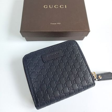 902010fed5c GUCCI 2018-19AW Leather Folding Wallets (449395 BMJ1G) by celebstyle ...