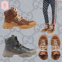 GUCCI Monogram Mountain Boots Blended Fabrics Street Style Plain