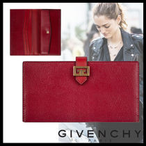 GIVENCHY GV3 Street Style Plain Leather Long Wallets