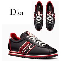 Christian Dior Blended Fabrics Leather Low-Top Sneakers