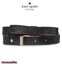 kate spade new york Plain Leather Elegant Style Belts
