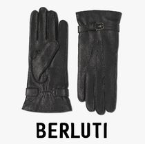 Berluti Leather Leather & Faux Leather Gloves