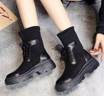 Square Toe Platform Casual Style Ankle & Booties Boots