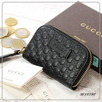 GUCCI Monoglam Leather Coin Purses