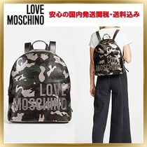 Love Moschino Casual Style Unisex Backpacks
