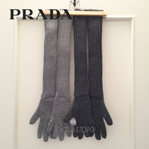 PRADA Wool Plain Gloves Gloves