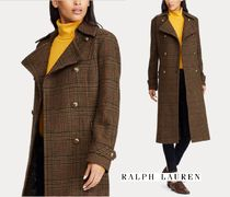 Ralph Lauren Wool Plain Long Elegant Style Wrap Coats