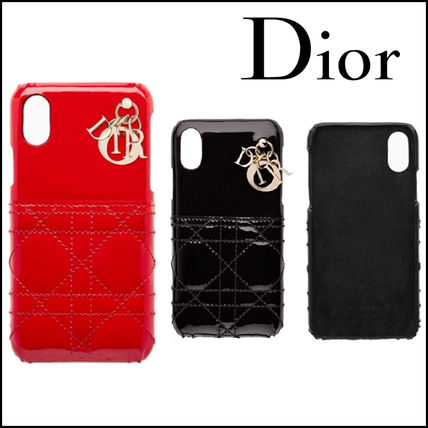half off dbcda eba68 Christian Dior LADY DIOR 2018 SS Plain Leather Smart Phone Cases