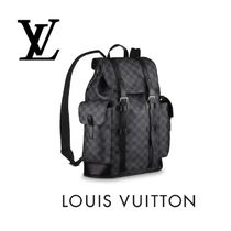 Louis Vuitton DAMIER Leather Backpacks