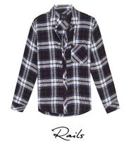 Rails Gingham Casual Style Nylon Street Style Long Sleeves Co-ord