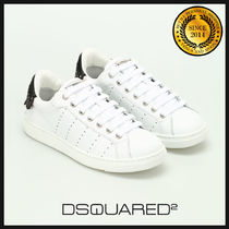 D SQUARED2 Rubber Sole Casual Style Bi-color Leather Low-Top Sneakers