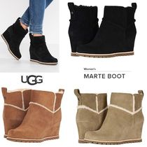 UGG Australia Plain Toe Casual Style Suede Plain Wedge Boots