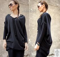 Aakasha V-Neck Long Sleeves Plain Cotton Medium Handmade Tunics