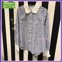 kate spade new york BROOME STREET LABEL Stripes Star Long Sleeves Cotton Shirts & Blouses