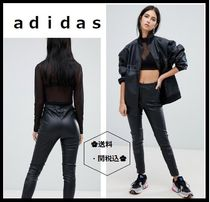 adidas Casual Style Faux Fur Street Style Plain