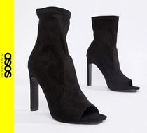 ASOS Open Toe Casual Style Faux Fur Boots Boots