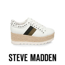 Steve Madden Stripes Platform Round Toe Casual Style