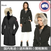 CANADA GOOSE Plain Long Down Jackets