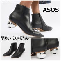 ASOS Casual Style Faux Fur Plain Ankle & Booties Boots