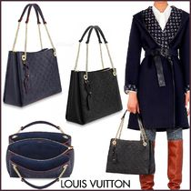 Louis Vuitton MONOGRAM EMPREINTE Monogram Blended Fabrics A4 2WAY Bi-color Chain Leather