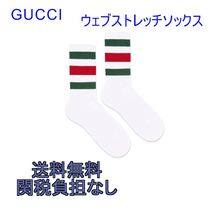 GUCCI Stripes Unisex Street Style Cotton Socks & Tights