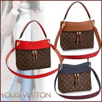 Louis Vuitton TUILERIES Monogram Canvas Blended Fabrics 2WAY Bi-color Elegant Style