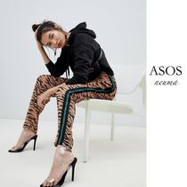 ASOS Stripes Leopard Patterns Casual Style Street Style Pants