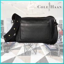 Cole Haan Tassel Plain Leather Office Style Shoulder Bags