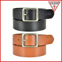 Guess Casual Style Plain Leather Belts