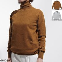 CELINE Wool Cashmere Long Sleeves Medium Turtlenecks