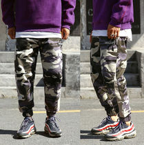 Printed Pants Camouflage Street Style Cotton Oversized