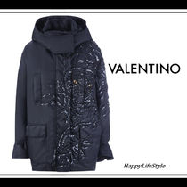 VALENTINO Plain Other Animal Patterns Medium With Jewels Down Jackets