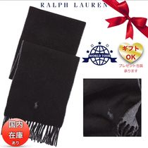 Ralph Lauren Unisex Wool Plain Fringes Scarves