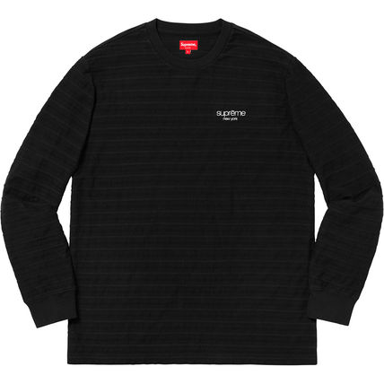 Supreme Long Sleeve Unisex Street Style Long Sleeves Cotton Long Sleeve T-Shirts 3