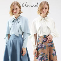 Chicwish Long Sleeves Plain Medium Elegant Style Shirts & Blouses