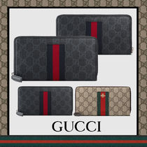 GUCCI GG Supreme Leather Long Wallets