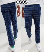 ASOS Printed Pants Other Check Patterns Street Style Cotton