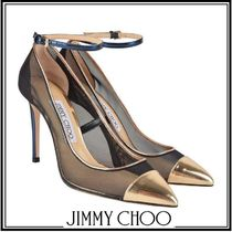 Jimmy Choo Leather Elegant Style High Heel Pumps & Mules