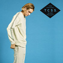 TCSS Crew Neck Long Sleeves Plain Cotton Oversized Tops