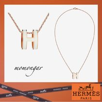 HERMES Costume Jewelry Casual Style Unisex 18K Gold