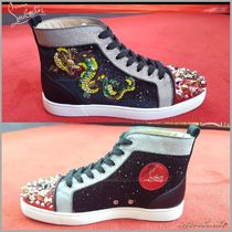 Christian Louboutin Studded Plain Other Animal Patterns Sneakers
