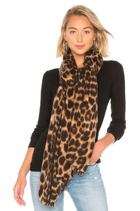 Leopard Patterns Casual Style Blended Fabrics Street Style